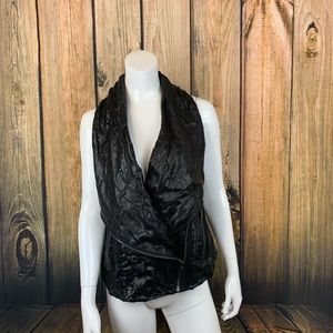 Ashley B genuine leather moto vest large